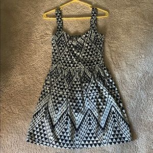 Black and white spandex dress